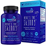 Probiotic and Prebiotic Digestive Health Supplement, Shelf Stable - with 10 Billion CFU, Turmeric - for Men & Women, 15x More Survivability (30)