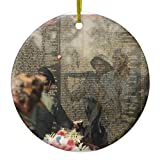 SheilaNelly Vietnam Veterans' Memorial Christmas Ornament Ceramic Circle 3 inch