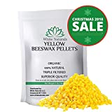 HOLIDAYS SALE! Beeswax Pellets 1 lb, Yellow, Pure, Natural, Cosmetic Grade, Bees Wax Pastilles, Triple Filtered, Great For DIY Projects, Lip Balms, Lotions, Candles By White Naturals