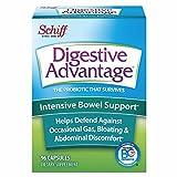 Intensive Bowel Support Probiotic Supplement - Digestive Advantage 96 Capsules,defends against gas, bloating, abdominal discomfort, Survives 100x Betterthan regular 50 billion CFU
