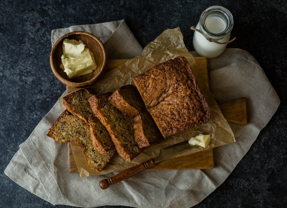 Frosting the Dairy Free Banana Bread