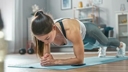 Women in Plank Position