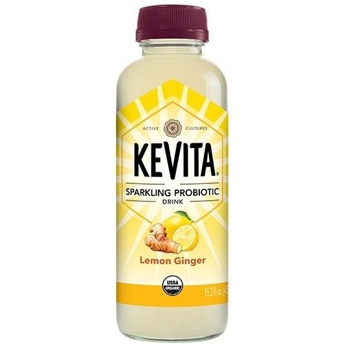 KEVITA Lemon Ginger Sparkling Probiotic
