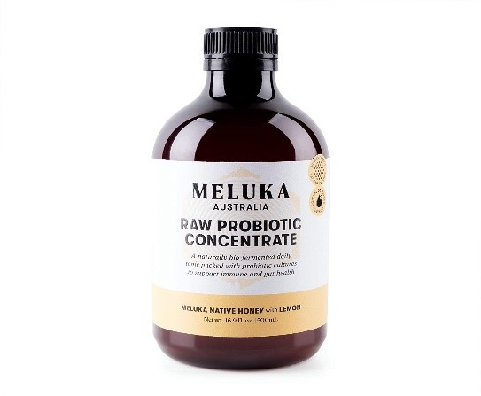Raw Probiotic Concentrate with Meluka Native Honey and Lemon