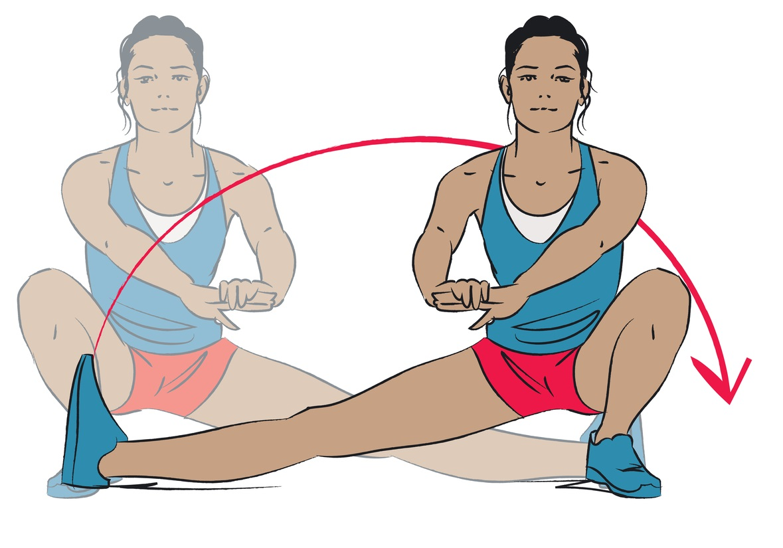 young woman doing leg exercise